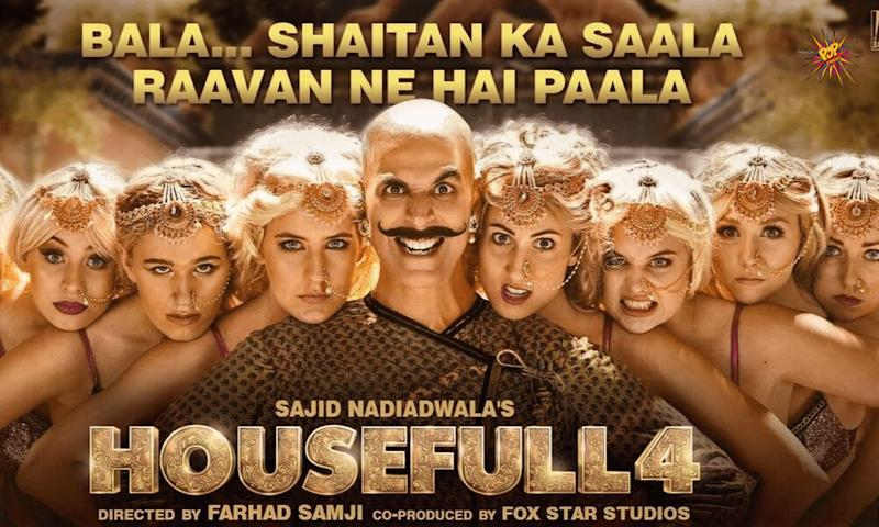 Makers of Housefull 4 released the latest poster, ahead of the song release 'Shaitan Ka Saala' coming today