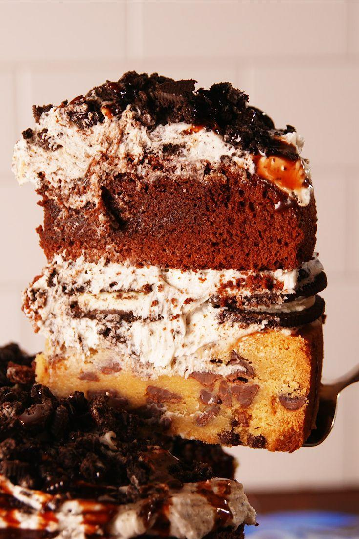 """<p>Too much going on? Or just enough?</p><p>Get the recipe from <a href=""""https://www.delish.com/cooking/recipe-ideas/recipes/a52785/slutty-brownie-cake-recipe/"""" rel=""""nofollow noopener"""" target=""""_blank"""" data-ylk=""""slk:Delish"""" class=""""link rapid-noclick-resp"""">Delish</a>.</p>"""