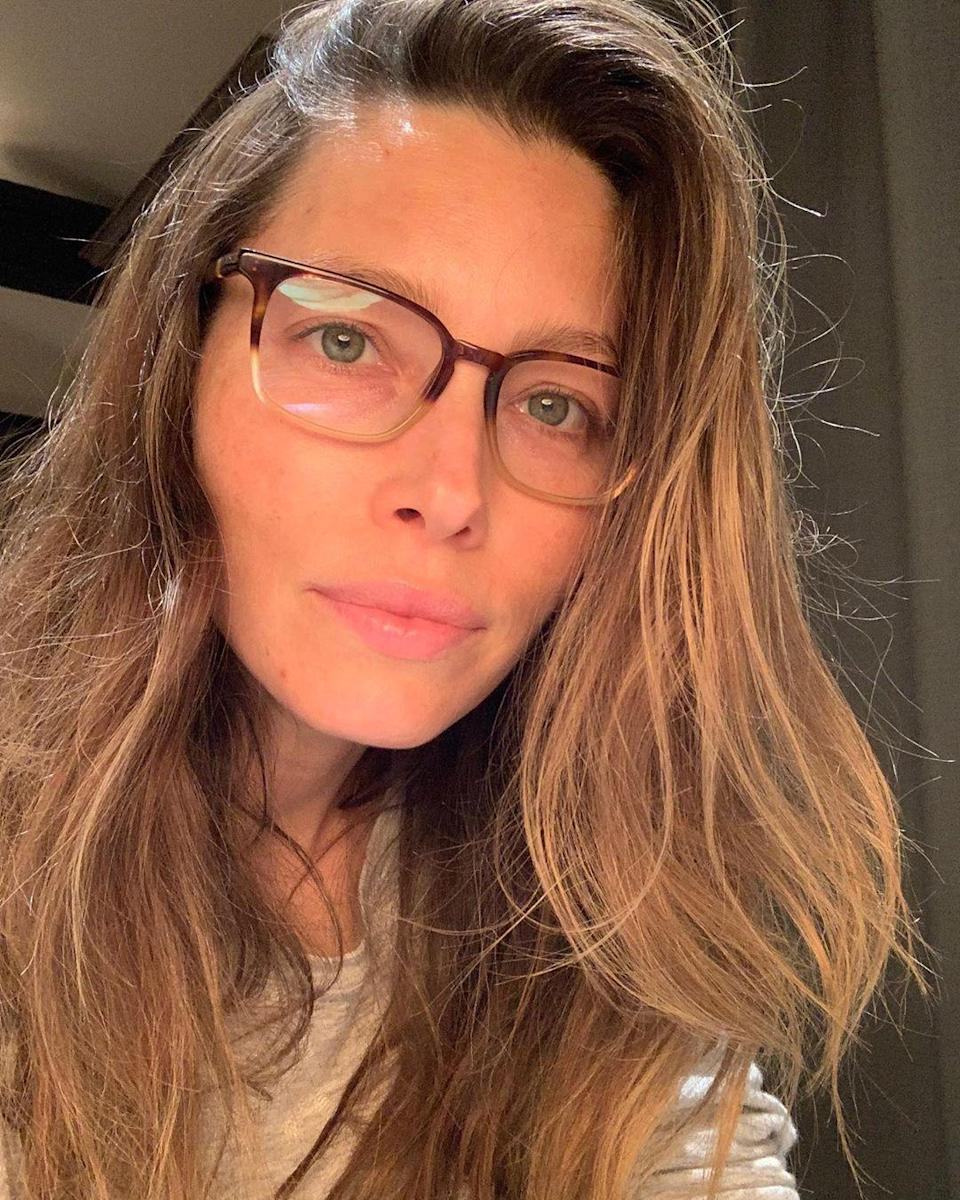 """No stranger to the makeup-free selfie, Biel posted her most recent one with a shout-out to Kate Upton. """"Spreading some self love today with zero filter and zero makeup for my girl @KateUpton,"""" she <a href=""""https://www.instagram.com/p/B06GKVvBTaB/"""" rel=""""nofollow noopener"""" target=""""_blank"""" data-ylk=""""slk:wrote"""" class=""""link rapid-noclick-resp"""">wrote</a>. """"She's on a mission to encourage everyone to feel strong and love themselves <em>as they are</em>... and I'm so honored to help spread that message."""""""