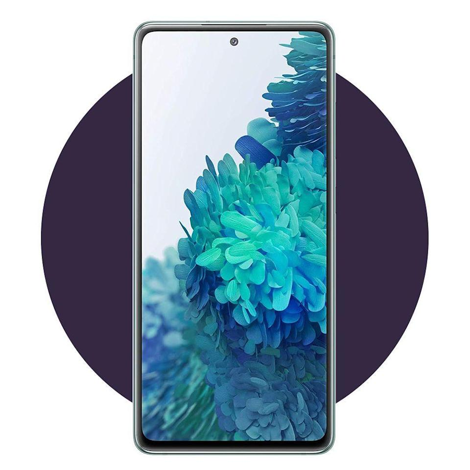 """<p><strong>Samsung Electronics</strong></p><p>amazon.com</p><p><strong>$699.00</strong></p><p><a href=""""https://www.amazon.com/dp/B08FYVMRM5?tag=syn-yahoo-20&ascsubtag=%5Bartid%7C2089.g.34449251%5Bsrc%7Cyahoo-us"""" rel=""""nofollow noopener"""" target=""""_blank"""" data-ylk=""""slk:Shop Now"""" class=""""link rapid-noclick-resp"""">Shop Now</a></p><p>By offering top-tier design and specs at an amazing price point, the <a href=""""https://www.bestproducts.com/tech/electronics/g158/best-samsung-phones-and-smartphones/"""" rel=""""nofollow noopener"""" target=""""_blank"""" data-ylk=""""slk:Samsung Galaxy S20 FE"""" class=""""link rapid-noclick-resp"""">Samsung Galaxy S20 FE</a> is our senior tech editor's favorite Android smartphone of 2020. It's just further proof that there's no need to break the bank to get an uncompromisingly great phone.</p><p>The FE packs a powerful chipset, a sophisticated camera setup, built-in stereo speakers tuned by AKG, expandable memory, and support for fast wired and wireless charging, as well as reverse wireless charging.</p>"""