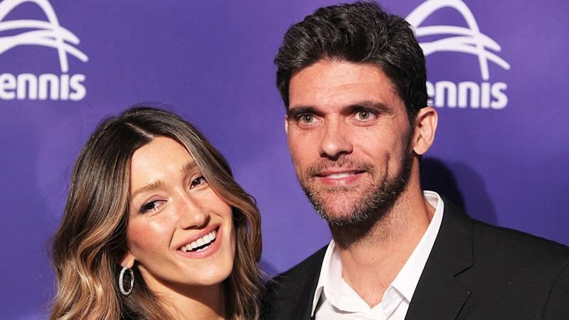 Pictured here is Mark Philippoussis and his wife Silvana Lovin.