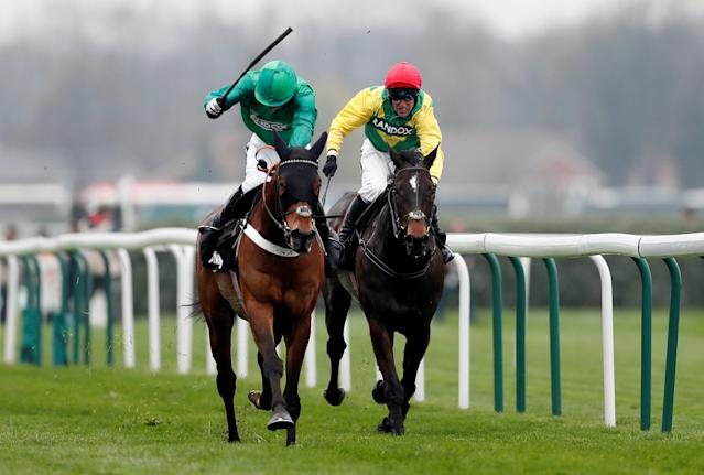 Horse Racing - Grand National Festival - Aintree Racecourse, Liverpool, Britain - April 12, 2018 L'ami Serge ridden by Daryl Jacob in action during the 15:25 Betway Aintree Hurdle Action Images via Reuters/Matthew Childs