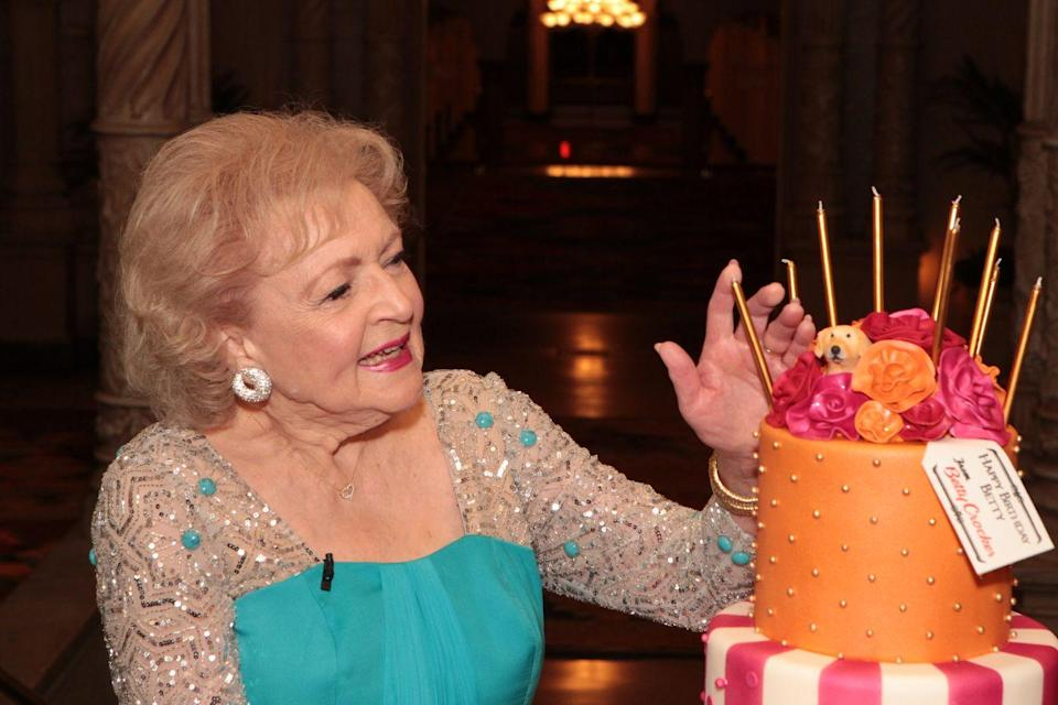 <p>Betty celebrated her 90th birthday in 2012 with a huge birthday cake and a televised birthday special held in her honor by NBC. </p>