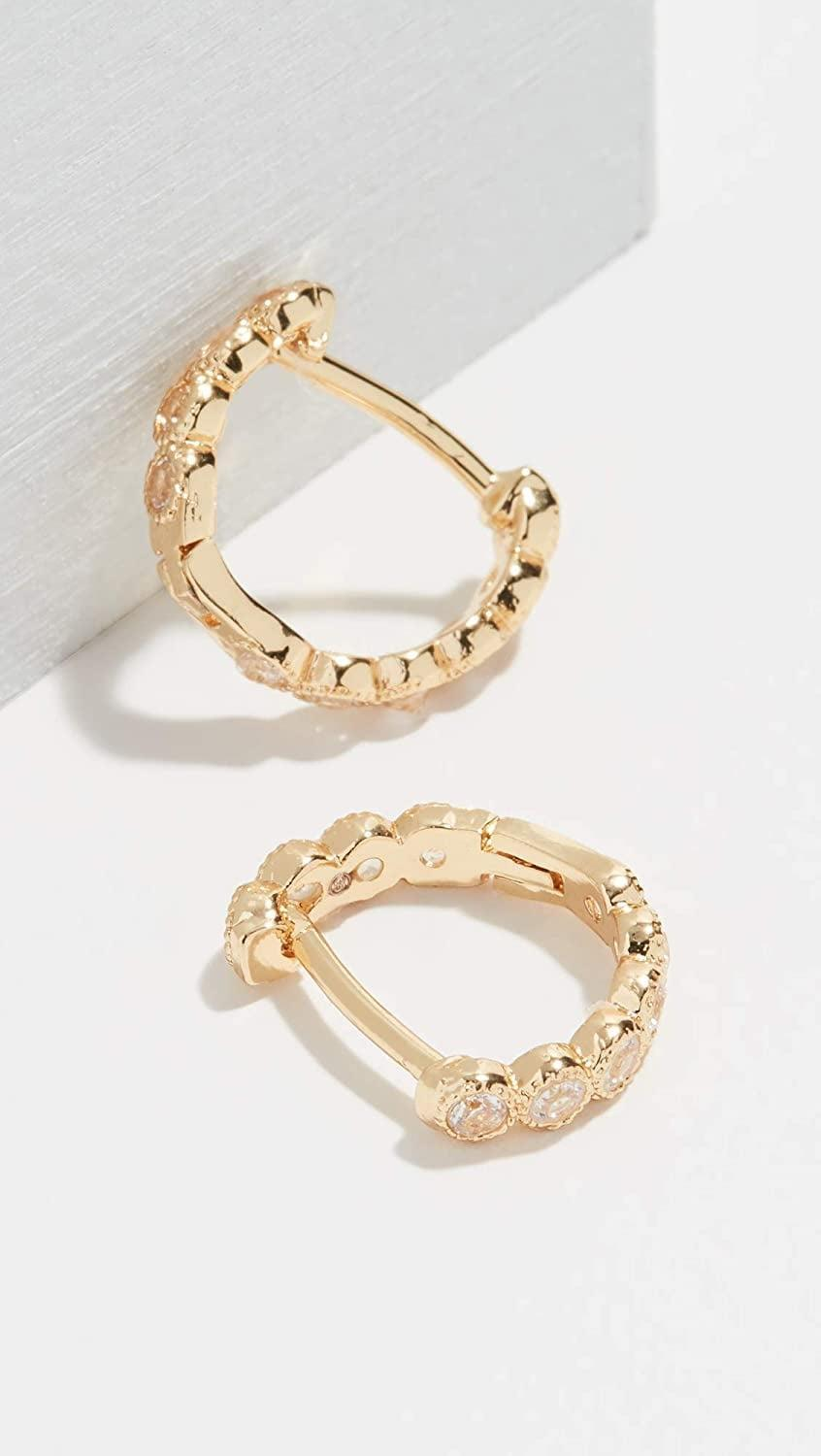 <p>These <span>Gorjana Madison Huggie Earrings</span> ($45) are a cute everyday choice.</p>