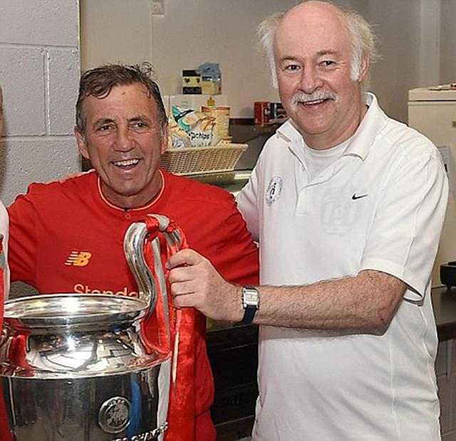 Liverpool legend Alan Kennedy with WFA founder Paul Carr