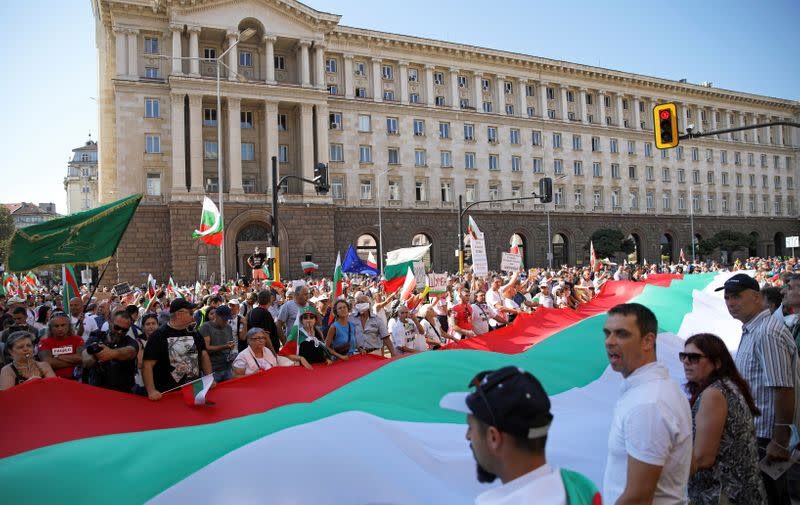 FILE PHOTO: Anti-government demonstration in Sofia