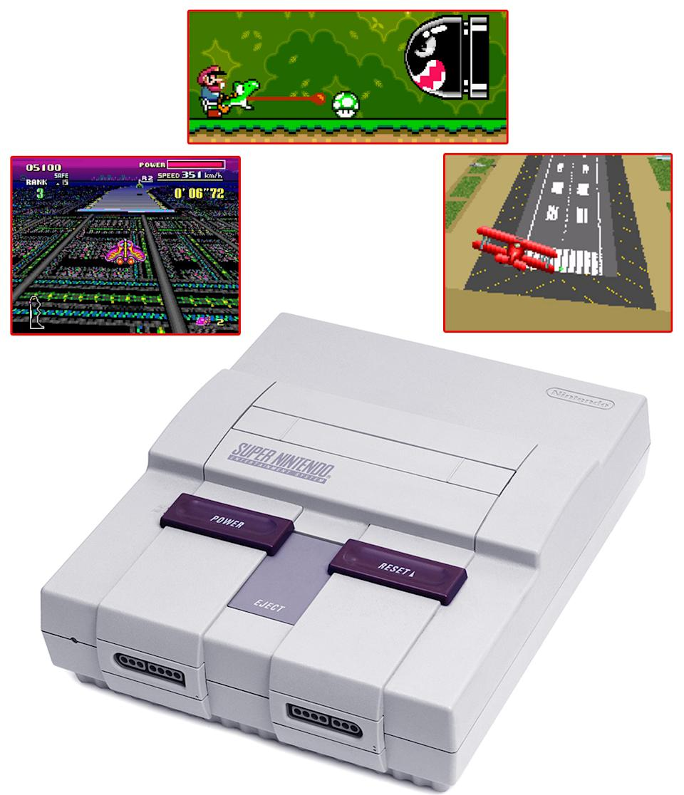 Nintendo's NES follow-up was another big winner at launch, due in no small part to the epic Super Mario World. There's a reason the title has sold more than 20 million copies and is still thought of as one of the best games of all time. But it didn't end there. Pilotwings and F-Zero helped round out the day one offerings, as well as a Nintendo-fied version of SimCity.