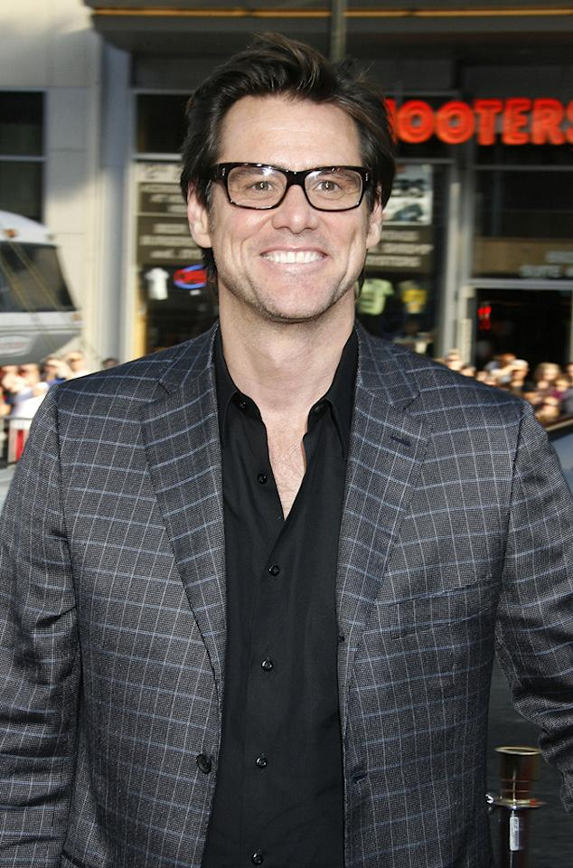 """<a href=""""http://movies.yahoo.com/movie/contributor/1800022997"""">Jim Carrey</a> at the Los Angeles premiere of <a href=""""http://movies.yahoo.com/movie/1810044687/info"""">The Hangover</a> - 06/02/2009"""