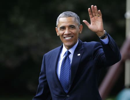 US President Obama departs White House for Democratic Party fund raisers in New York City and Connecticut