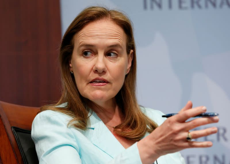 FILE PHOTO: Former Defense Undersecretary for Policy Michele Flournoy participates in a panel discussion