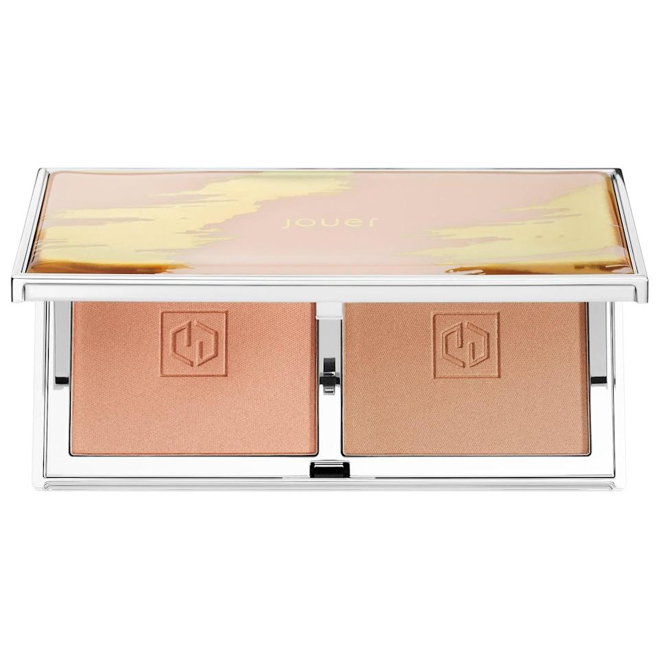 <p>The <span>Jouer Cosmetics Sunswept Bronzer Duo</span> ($30) lets you create the glow you want.</p>