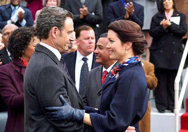 Tony Goldwyn as Fitz Grant and Bellamy Young as Mellie Grant on ABC's 'Scandal' (Photo: Richard Cartwright/ABC)
