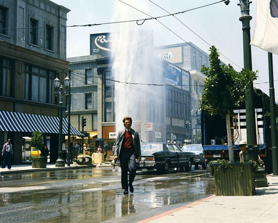 <p>In the early '70s, Eastwood starred in the first film from the <em>Dirty Harry</em> franchise. The actor played a tough and ruthless cop who would do whatever means necessary to solve a crime. The films became a sensation and are some of Eastwood's most popular projects to this day.</p>