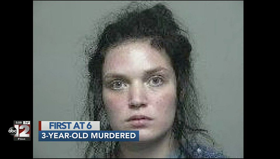 Justine Johnson, 22, has been charged with murder and first-degree child abuse over the death of her daughter (WJRT)