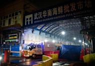 The new coronavirus is thought to have spread from Huanan Seafood Wholesale Market in Wuhan, which was shut on January 1