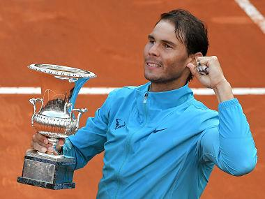 Rome Masters: Rafael Nadal lays down marker for French Open title defence, one forehand bullet at a time
