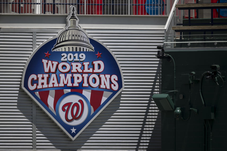 The Nationals may be forced to move some home games in 2020. (Photo by Scott Taetsch/Getty Images)