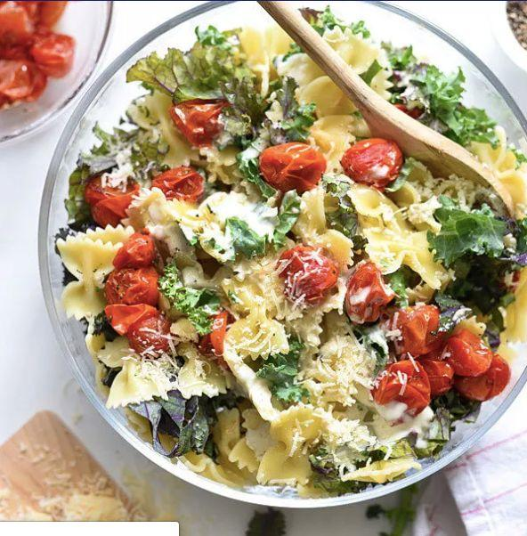 "<strong>Get the <a href=""http://www.foodiecrush.com/kale-caesar-pasta-salad/"" target=""_blank"" rel=""noopener noreferrer"">Kale Caesar Pasta Salad recipe</a> from Foodie Crush</strong>"