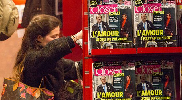 French magazine Closer were the first to reveal the alleged affair. Photo: Getty Images