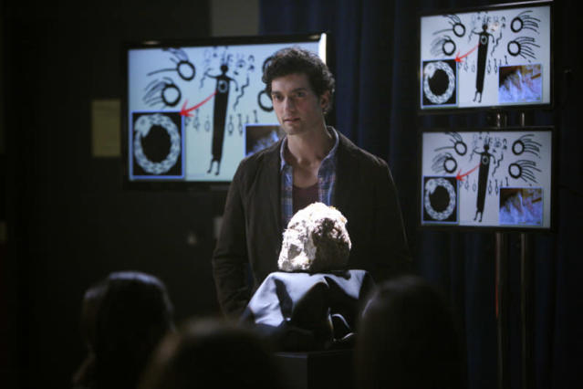 "David Alpay as Professor Shane in ""We All Go a Little Mad Sometimes,"" the sixth episode of ""The Vampire Diaries"" Season 4."