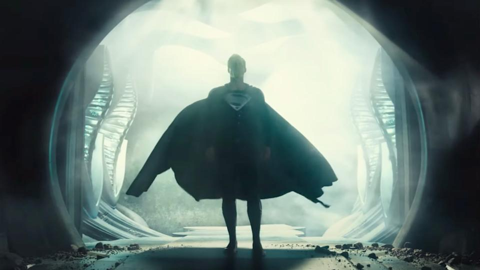 black suit superman in Zack Snyder's Justice League