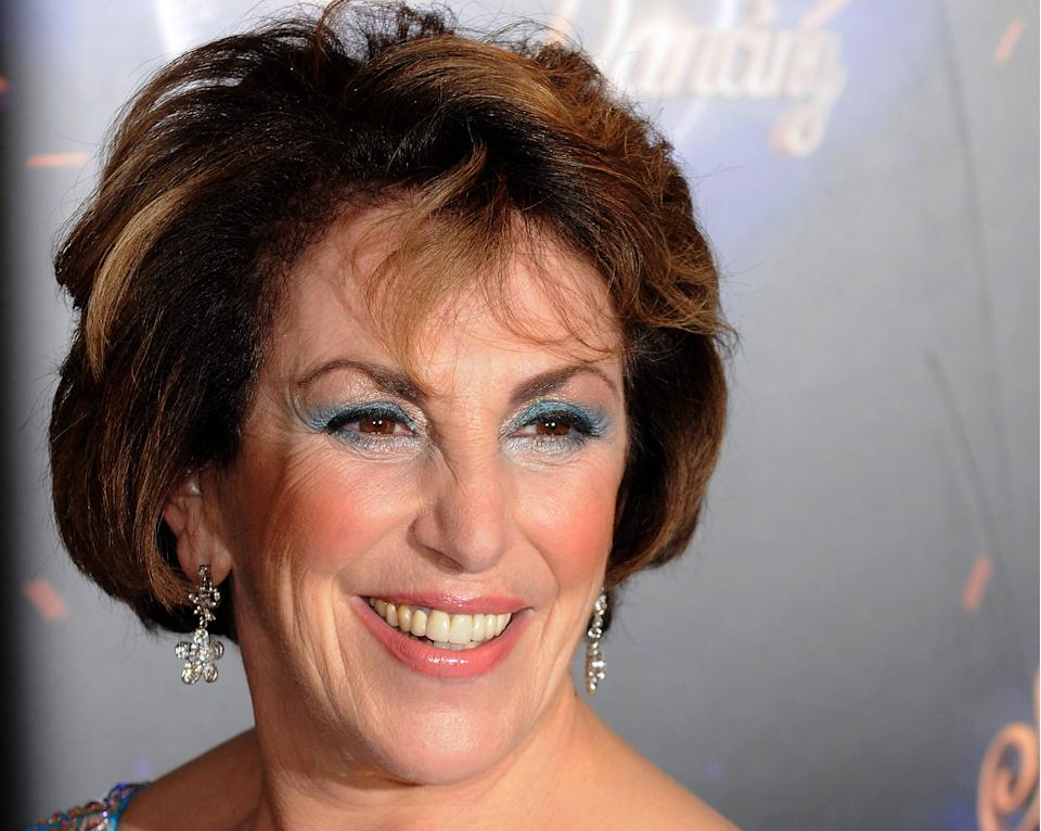 LONDON, ENGLAND - SEPTEMBER 07:  Edwina Currie takes part in BBC One Strictly Come Dancing 2011 at BBC Television Centre on September 7, 2011 in London, England.  (Photo by Eamonn McCormack/WireImage)