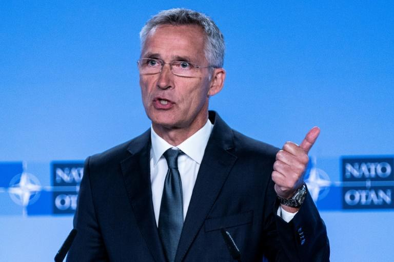 NATO Secretary General Jens Stoltenberg said the alliance does not want to see a new arms race after the demise of the 1987 INF Treaty (AFP Photo/Kenzo TRIBOUILLARD)