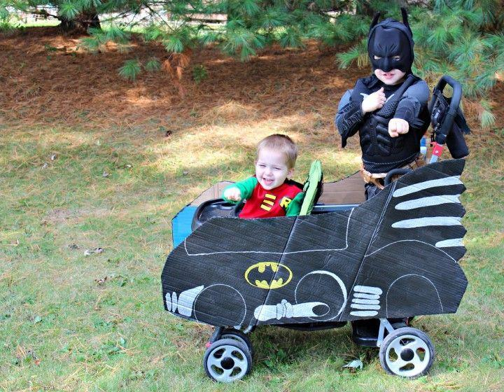 """<p>A younger sibling dressed as Robin makes the perfect sidekick to an older sibling dressed as Batman. A baby-stroller Batmobile is totally optional. </p><p><a class=""""link rapid-noclick-resp"""" href=""""https://www.amazon.com/Rubies-Costume-Justice-League-Multicolor/dp/B01MUH7ULN/?tag=syn-yahoo-20&ascsubtag=%5Bartid%7C10055.g.33300912%5Bsrc%7Cyahoo-us"""" rel=""""nofollow noopener"""" target=""""_blank"""" data-ylk=""""slk:SHOP BATMAN COSTUMES"""">SHOP BATMAN COSTUMES</a></p><p><a class=""""link rapid-noclick-resp"""" href=""""https://www.amazon.com/Rubies-630883-S-Comics-Costume-Multicolor/dp/B01MZGCH72/?tag=syn-yahoo-20&ascsubtag=%5Bartid%7C10055.g.33300912%5Bsrc%7Cyahoo-us"""" rel=""""nofollow noopener"""" target=""""_blank"""" data-ylk=""""slk:SHOP ROBIN COSTUMES"""">SHOP ROBIN COSTUMES</a></p><p><em><a href=""""https://justagirlandherblog.com/diy-batmobile/"""" rel=""""nofollow noopener"""" target=""""_blank"""" data-ylk=""""slk:Get the tutorial at Just a Girl and Her Blog »"""" class=""""link rapid-noclick-resp"""">Get the tutorial at Just a Girl and Her Blog »</a></em> </p>"""
