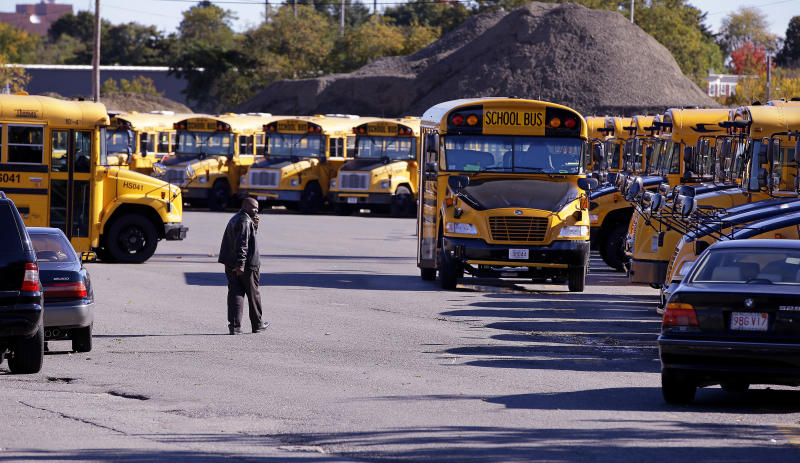 Boston officials wary as buses roll after strike