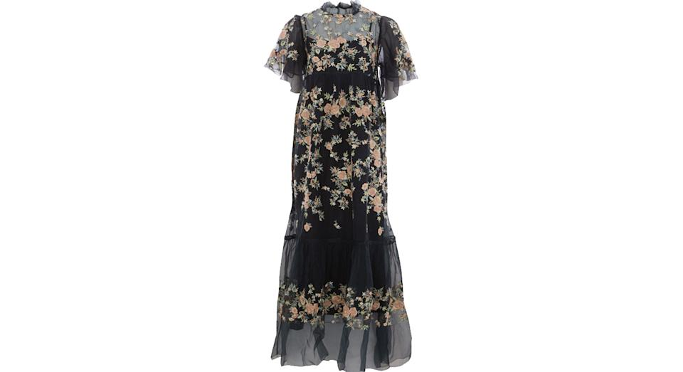 Let Me Be Black Embroidered Maxi Dress