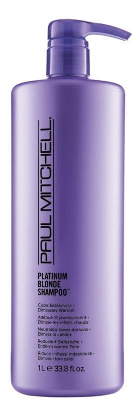 <p>The violet-tinted <span>Paul Mitchell Platinum Blonde Shampoo</span> ($33) helps condition hair and intensifies shine. Natural blonds and those with color-treated hair can use it regularly to keep their hair looking bright.</p>