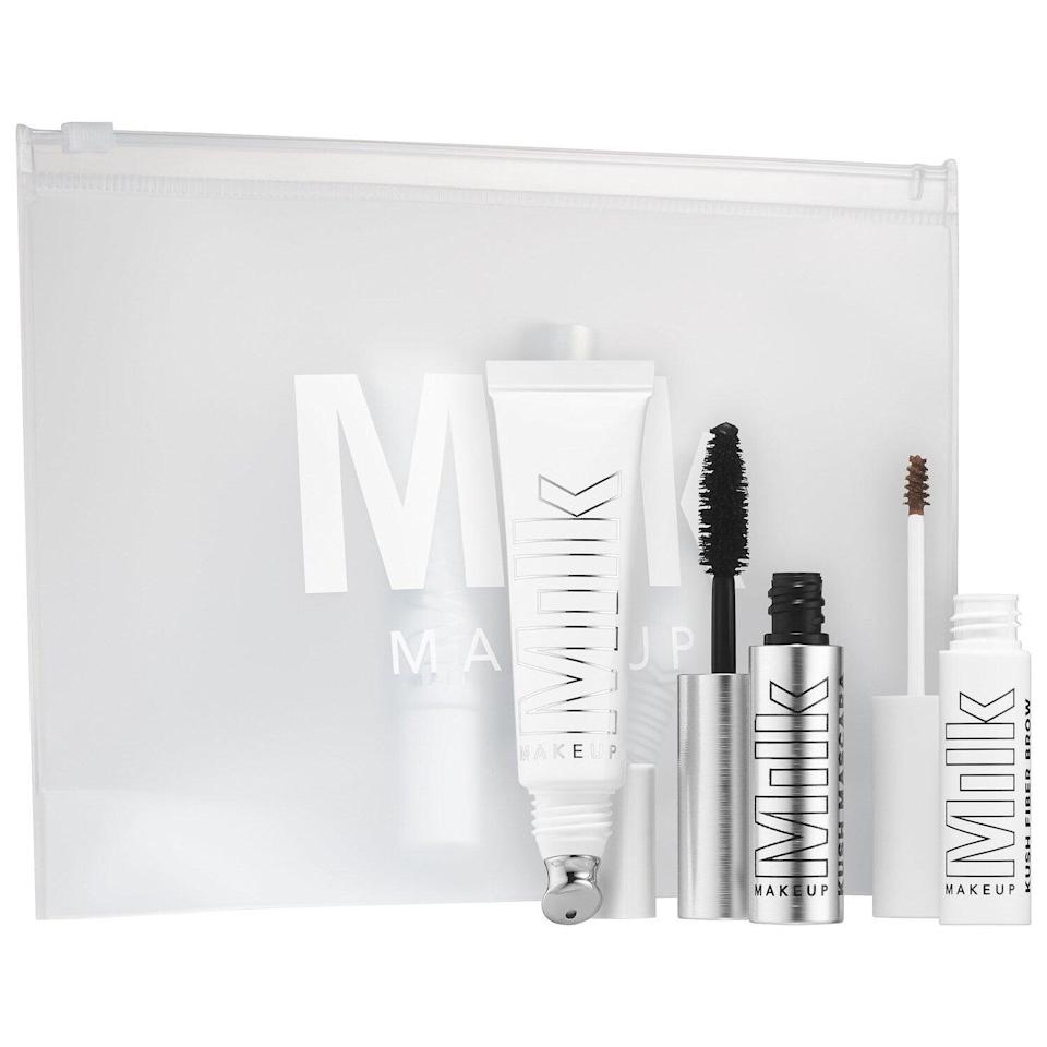 "<h3><a href=""https://www.sephora.com/product/when-kush-hits-P447588"" rel=""nofollow noopener"" target=""_blank"" data-ylk=""slk:Milk Makeup When The Kush Hits Customizable Set"" class=""link rapid-noclick-resp"">Milk Makeup When The Kush Hits Customizable Set</a></h3><br>We would still love these Milk Makeup gems even if they weren't laced with hemp-derived CBD oil, but hey, we'll take it. (The stuff helps hydrates skin and lashes, BTW.)<br><br><strong>Milk Makeup</strong> When the Kush Hits Customizable Set, $, available at <a href=""https://go.skimresources.com/?id=30283X879131&url=https%3A%2F%2Fwww.sephora.com%2Fproduct%2Fwhen-kush-hits-P447588"" rel=""nofollow noopener"" target=""_blank"" data-ylk=""slk:Sephora"" class=""link rapid-noclick-resp"">Sephora</a>"