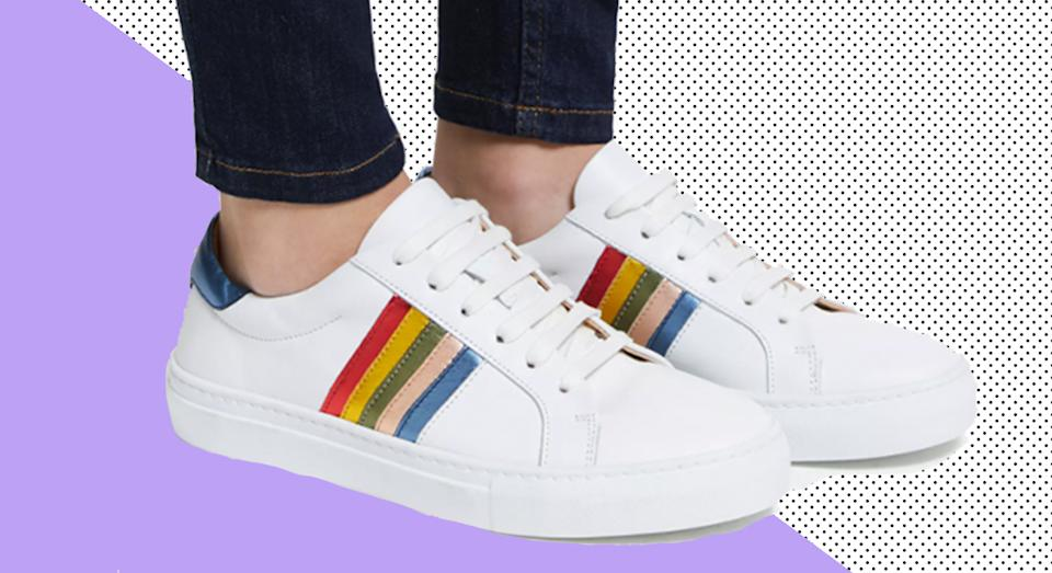 John Lewis & Partners' top-rated rainbow trainers are now on sale. (John Lewis/ Yahoo Style UK)