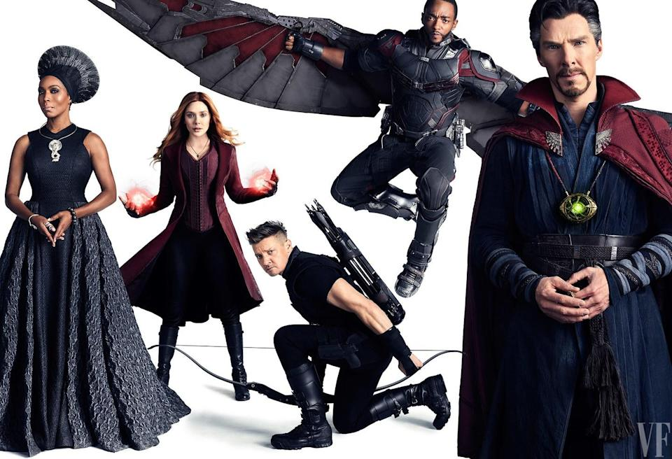 Earth's mightiest heroes assembled for a superhero photoshoot to end them all. (Vanity Fair)