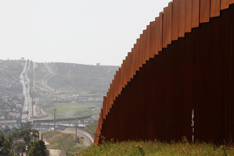 The border fence between Mexico and the United States is pictured from Tijuana, Mexico March 29, 2019. REUTERS/Jorge Duenes