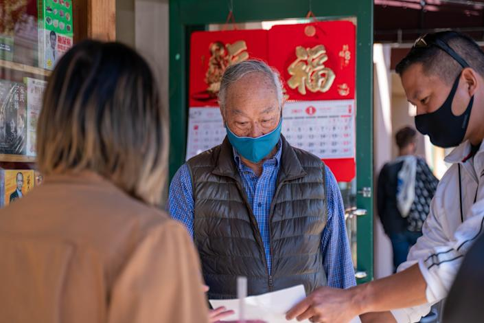 At least 700 Oaklanders signed up to help escort older Asian Americans in the community to keep them safe after a slew of harassment around the Bay Area.