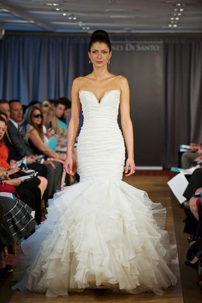 """<div class=""""caption-credit""""> Photo by: Ines di Santo</div><div class=""""caption-title"""">3. Ines di Santo</div>Ines Di Santo is considered to be the """"Queen of Mermaids"""" in the bridal world. Here, she lives up to her title-we love the perfect proportions of this gown. <br> <br> Check out more gorgeous styles in our <a rel=""""nofollow noopener"""" href=""""http://www.bridalguide.com/photo-galleries/bridal-gowns/ines-di-santo/style-amour"""" target=""""_blank"""" data-ylk=""""slk:Ines di Santo gown gallery"""" class=""""link rapid-noclick-resp"""">Ines di Santo gown gallery</a>!"""