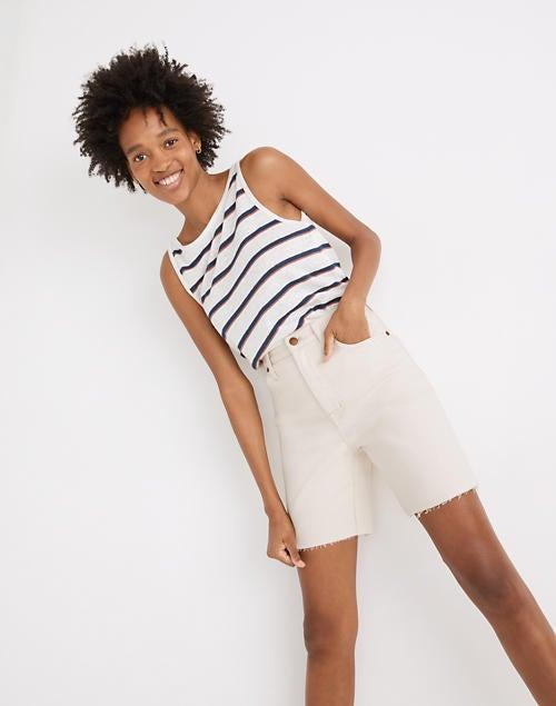 """<br><br><strong>Madewell</strong> High-Rise Mid-Length Denim Shorts, $, available at <a href=""""https://go.skimresources.com/?id=30283X879131&url=https%3A%2F%2Fwww.madewell.com%2Fhigh-rise-mid-length-denim-shorts-in-vintage-canvas-wash-MD746.html"""" rel=""""nofollow noopener"""" target=""""_blank"""" data-ylk=""""slk:Madewell"""" class=""""link rapid-noclick-resp"""">Madewell</a>"""