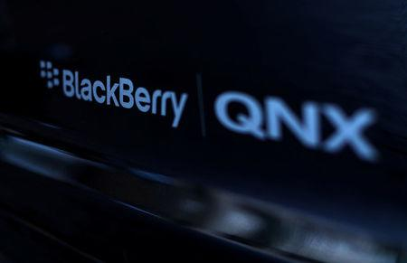 FILE PHOTO:    An automobile running Blackberry QNX software is shown during the Milken Institute Global Conference