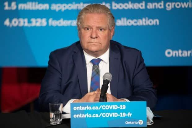 Ottawa has rejected an offer by Ontario Premier Doug Ford's government to double the Canada recovery sickness benefit to $1,000 a week for every provincial resident instead of creating its own paid sick leave initiative.  (Chris Young/The Canadian Press - image credit)