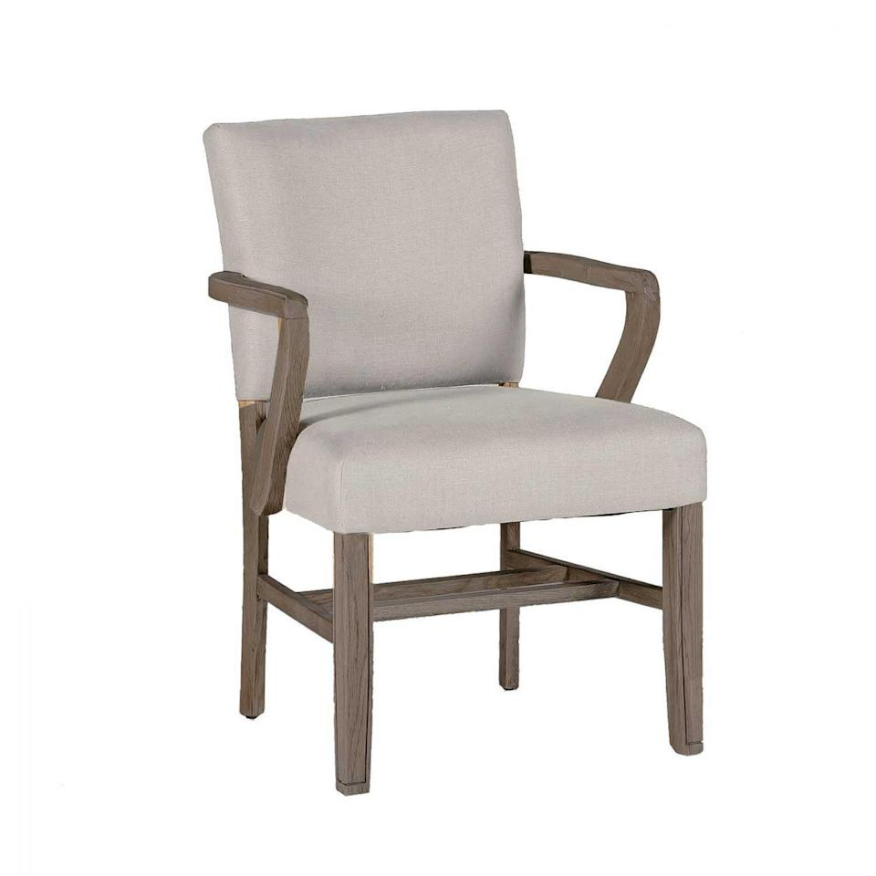 """<p><strong>Summer Classics Home</strong></p><p>summerclassicshome.com</p><p><strong>$735.00</strong></p><p><a href=""""https://www.summerclassicshome.com/wylie-arm-chair_sch-580-s300-f03.html"""" rel=""""nofollow noopener"""" target=""""_blank"""" data-ylk=""""slk:Shop It"""" class=""""link rapid-noclick-resp"""">Shop It</a></p><p>This beautiful dining chair secretly doubles as a desk chair. It has comfortable padding for maximal support and an easy design that feels at once traditional yet modern at the same time.</p>"""