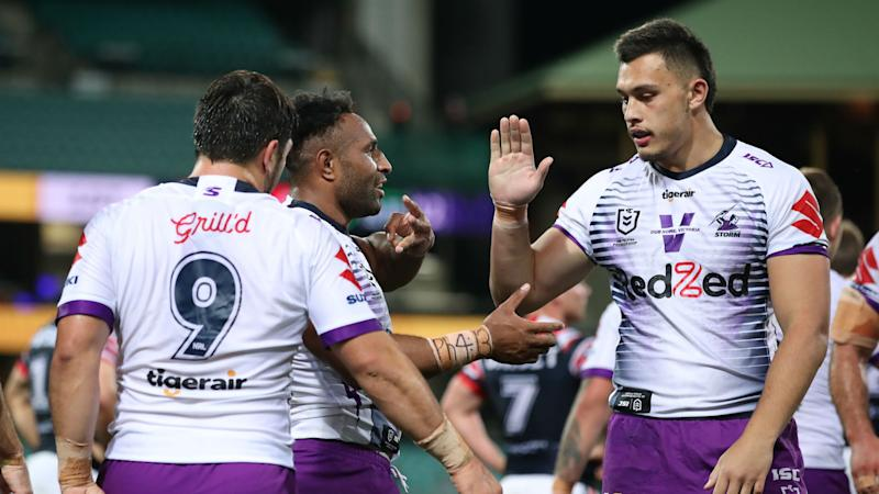 Sydney Roosters 6-24 Melbourne Storm: Olam at the double as visitors move top of NRL