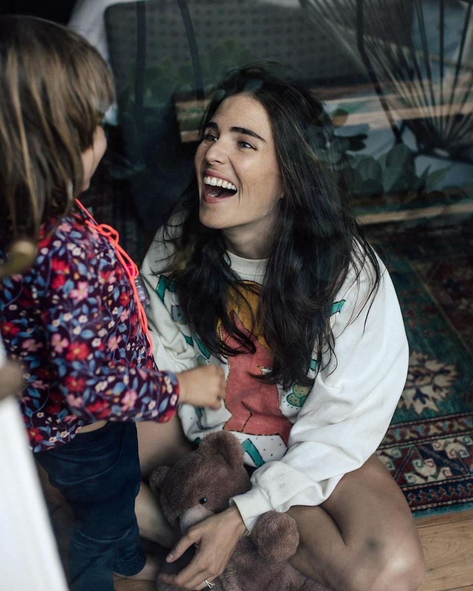 "<p>Karla Souza's daughter <a href=""https://people.com/parents/karla-souza-gives-birth-to-first-child-daughter-gianna/"" rel=""nofollow noopener"" target=""_blank"" data-ylk=""slk:Gianna"" class=""link rapid-noclick-resp"">Gianna</a> turned 3 on April 6.</p>"