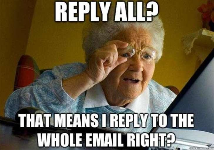 Replying all in email meme. (PHOTO: Screenshot)