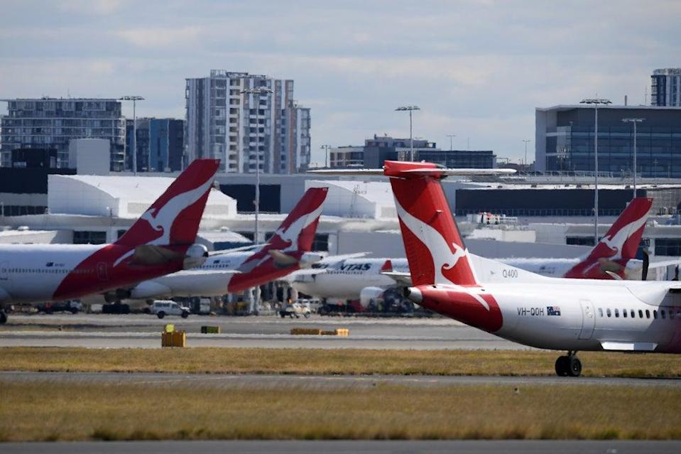 Qantas aircraft pictured at Sydney Airport in August (EPA)