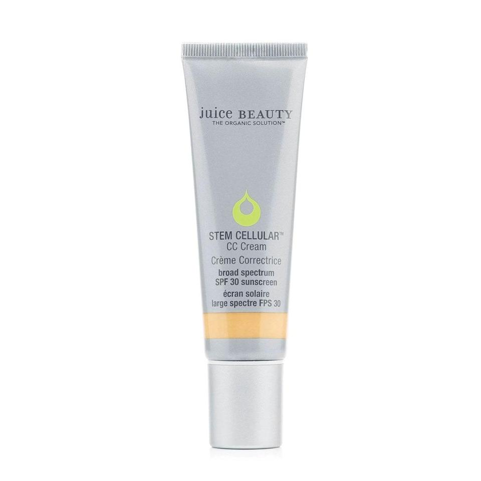 """I've tried my fair share of CC creams, but this stands out among the crowded shelves. It brings a light coverage that carries a subtle, refreshing fruity scent. Since the coverage is so sheer, my recommendation is going up a shade (or two) for more coverage, if that's what you're going for. $39, Juice Beauty. <a href=""""https://shop-links.co/1720901016119108113"""" rel=""""nofollow noopener"""" target=""""_blank"""" data-ylk=""""slk:Get it now!"""" class=""""link rapid-noclick-resp"""">Get it now!</a>"""
