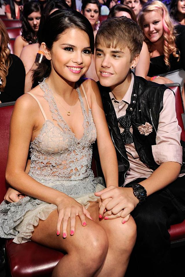 """Justin Bieber and Selena Gomez are """"on the rocks,"""" and their romance is """"fizzling out,"""" reports <i>In Touch</i>. The magazine reveals the two singers are constantly fighting because Gomez is becoming """"more popular and mainstream"""" while Bieber remains """"trapped in his teeny bopper mold."""" Plus, Gomez has her eye on Shia LaBeouf! For what went down when Bieber confronted Gomez about LaBeouf, and when the couple might call it quits, see what an insider leaks to <a href=""""http://www.gossipcop.com/justin-bieber-selena-gomez-break-up-split-shia-labeouf-jasmine-villegas/"""" target=""""new"""">Gossip Cop</a>. Kevin Mazur/TCA 2011/<a href=""""http://www.wireimage.com"""" target=""""new"""">WireImage.com</a> - August 7, 2011"""