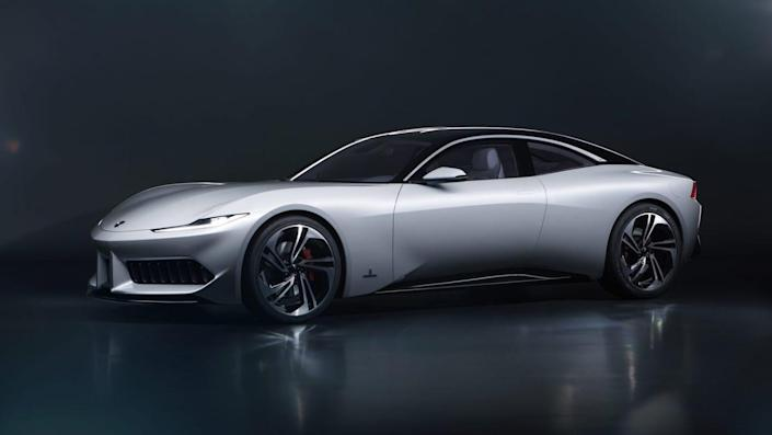 """Karma grew from the ashes of designer <a href=""""https://www.architecturaldigest.com/story/fisker-karma-back-to-life?mbid=synd_yahoo_rss"""" rel=""""nofollow noopener"""" target=""""_blank"""" data-ylk=""""slk:Henrik Fisker's nameseake Aughties car company Fisker"""" class=""""link rapid-noclick-resp"""">Henrik Fisker's nameseake Aughties car company Fisker</a>. If this elegant coupe, designed by <a href=""""https://www.architecturaldigest.com/gallery/pininfarina-shaped-world-luxury-automobiles?mbid=synd_yahoo_rss"""" rel=""""nofollow noopener"""" target=""""_blank"""" data-ylk=""""slk:famed Italian coach builders Pininfarina"""" class=""""link rapid-noclick-resp"""">famed Italian coach builders Pininfarina</a>, is any indication, we like its new direction. A tiny three-cylinder turbo engine and two electric motors provide 550 horsepower total. Limited production may be announced, depending on interest."""
