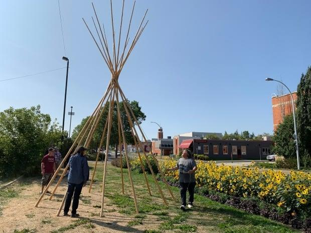 The Indigenous space at the Edmonton Fringe Festival was more than five years in the making.  (Jamie McCannel/CBC News - image credit)