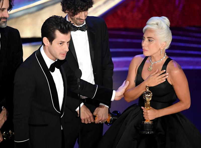 Mark Ronson with Lady Gaga at the 2019 Oscars (Getty Images)